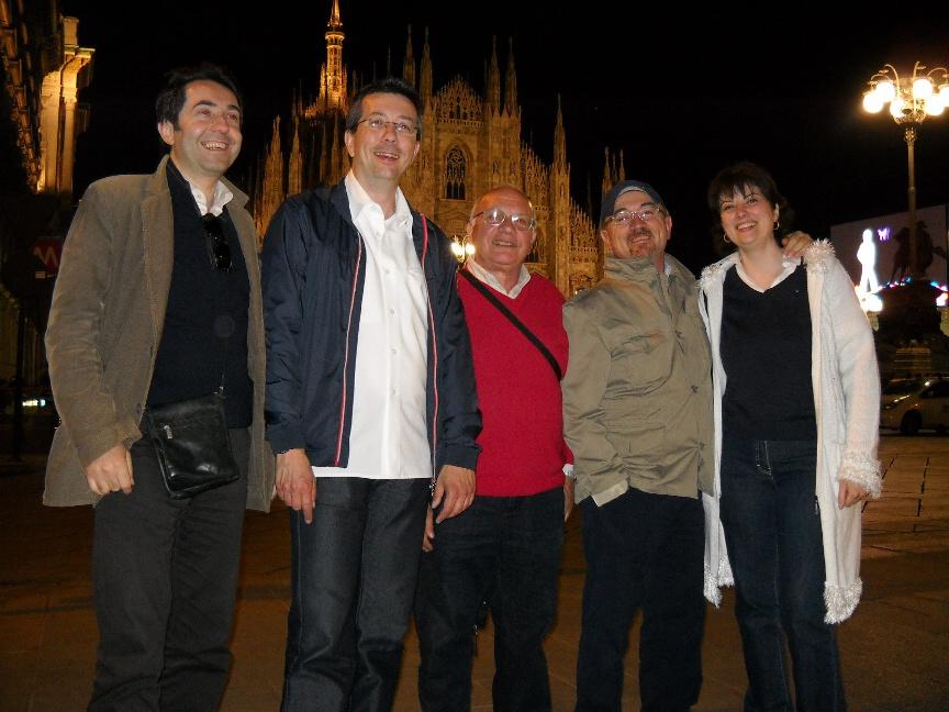 In piazza Duomo con Angelo Vicini